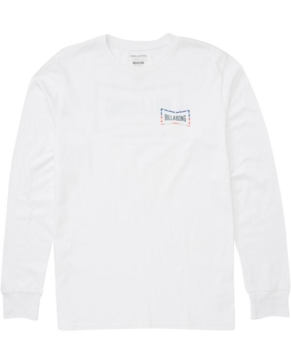 0 Craftsman Long Sleeve T-Shirt White M405PBCM Billabong