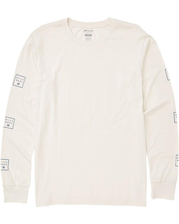 0 Stacked Long Sleeve T-Shirt White M405QBST Billabong