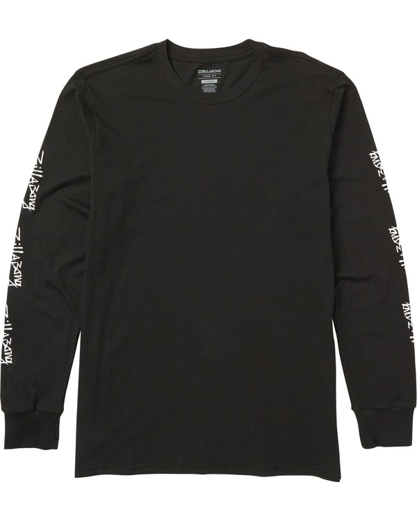 0 Eighty Six Long Sleeve Graphic Tee Shirt Black M405SBES Billabong