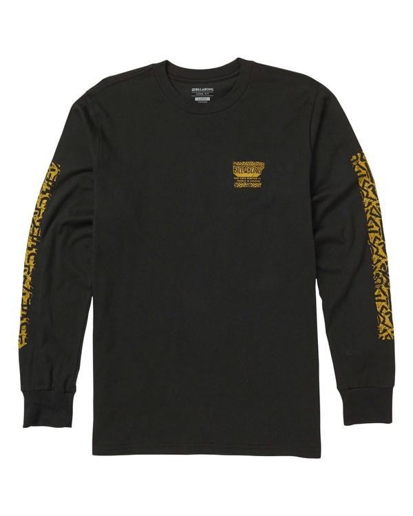 0 Haze Long Sleeve Graphic T-Shirt Black M405SBHA Billabong