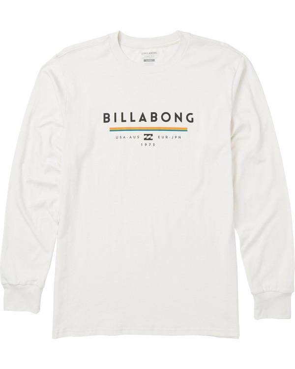 0 Unity Long Sleeve Graphic T-Shirt White M405SBUN Billabong