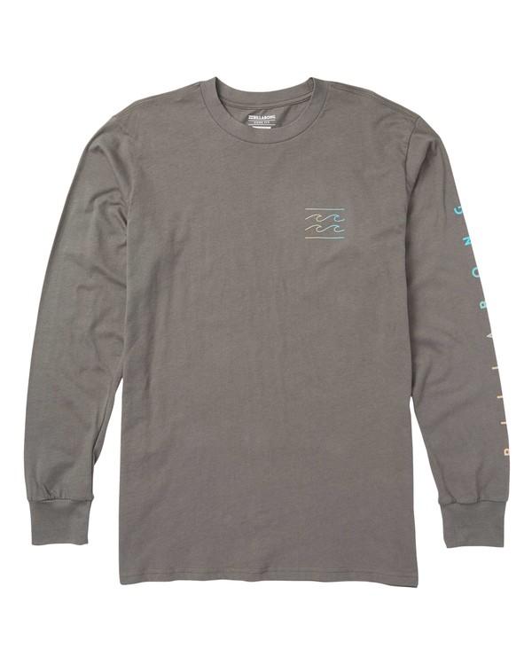 0 Unity Sleeves Long Sleeve Graphic T-Shirt Grey M405SBUS Billabong