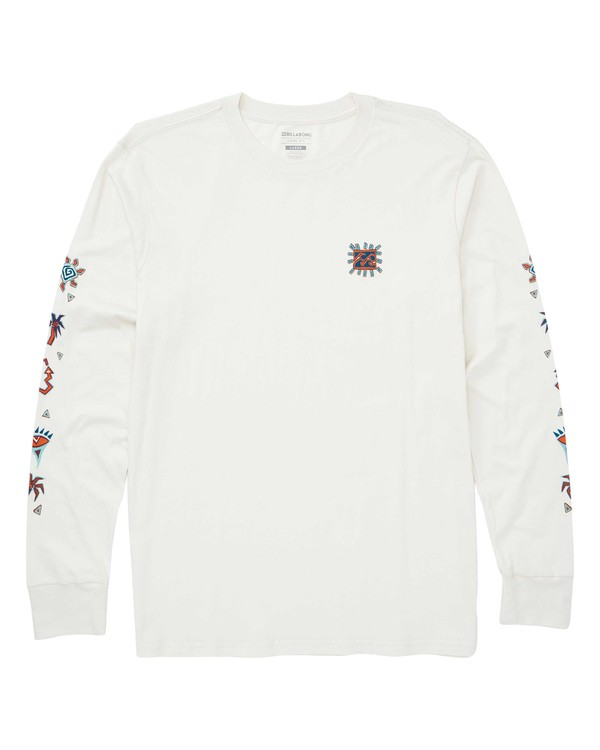 0 Hiero Long Sleeve T-Shirt White M405TBHI Billabong