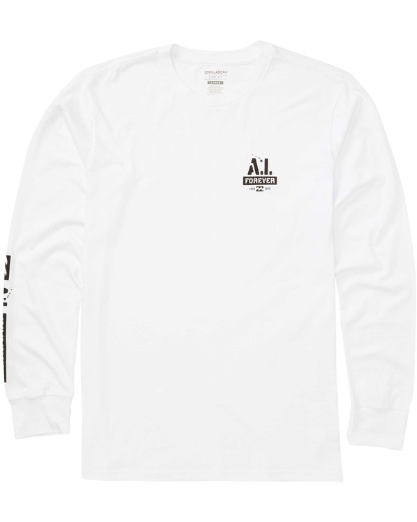 0 AI Stencil Long Sleeve Tee White M405TBSL Billabong