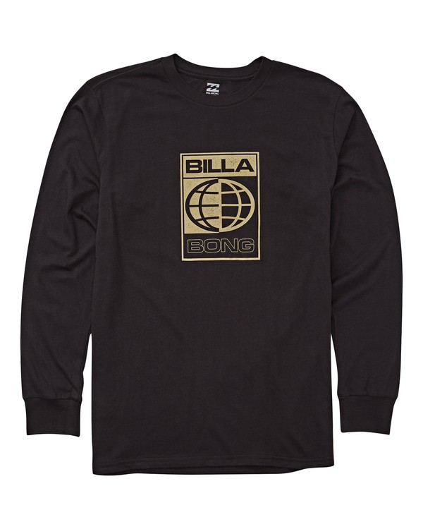 0 Globe Long Sleeve Tee Black M405UBGL Billabong