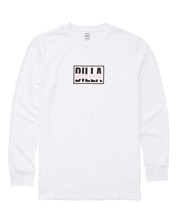 0 Ripped Long Sleeve Tee White M405UBRI Billabong