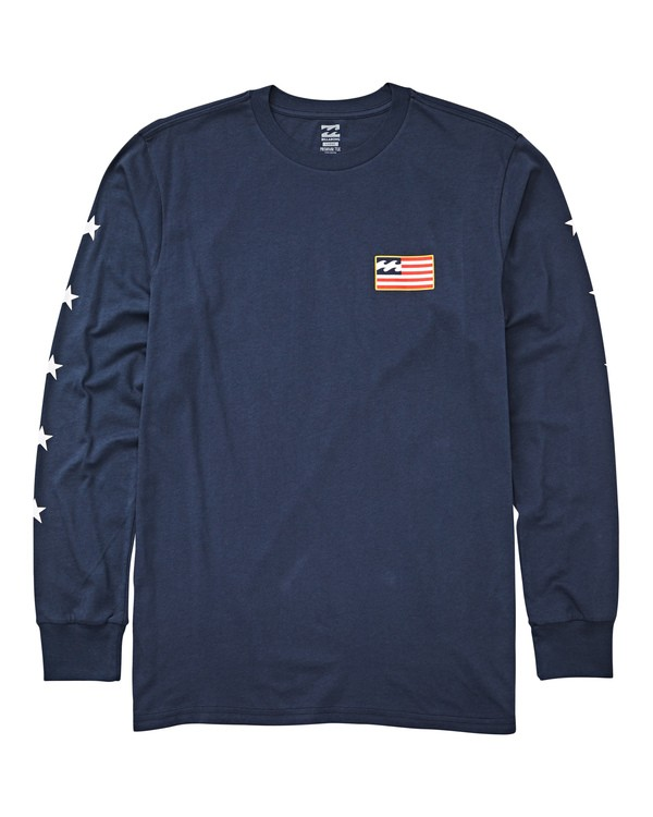 0 Washington Long Sleeve T-Shirt Blue M405UBWA Billabong