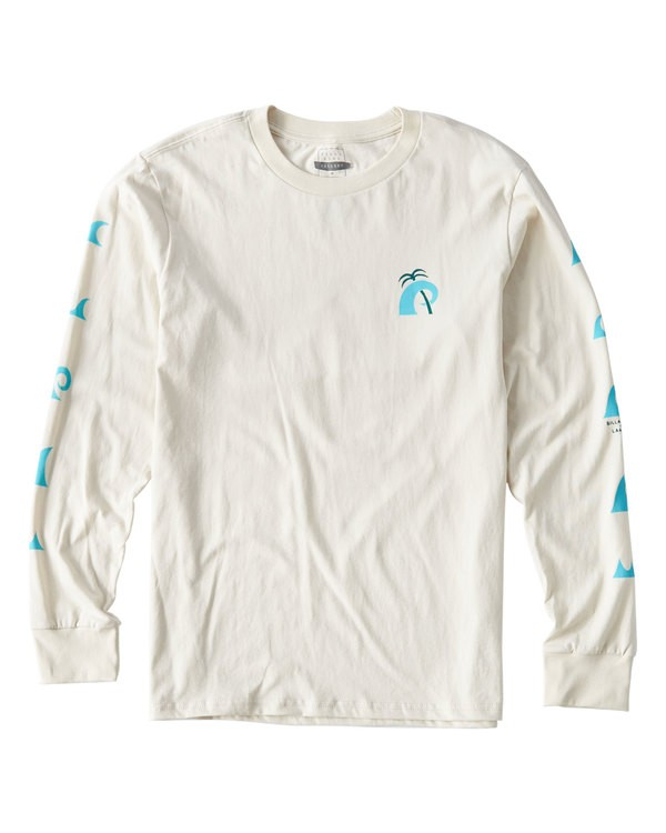 0 Wave Language Long Sleeve T-Shirt White M405UBWL Billabong