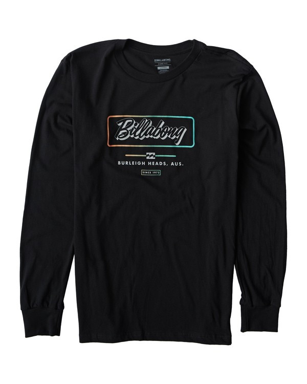 0 Script Long Seeve T-Shirt Black M405USCE Billabong