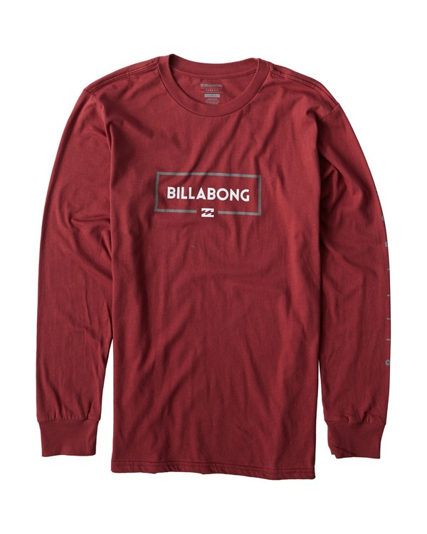 0 Swelled Long Seeve T-Shirt Red M405USWE Billabong
