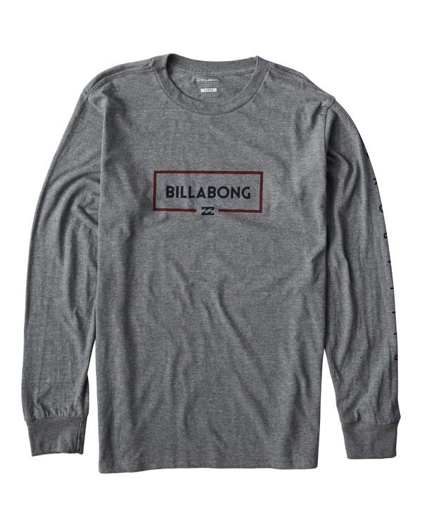 0 Swelled Long Seeve T-Shirt Grey M405USWE Billabong