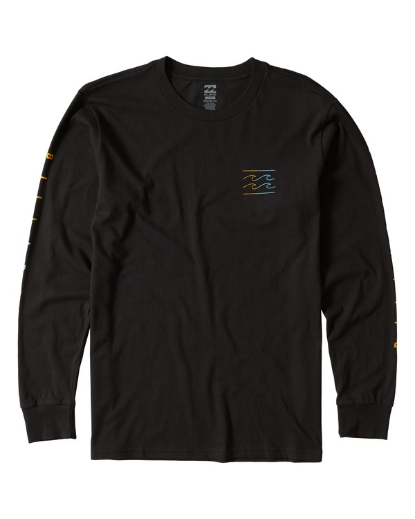 0 Unity Sleeves Long Sleeve Tee Black M405UUNR Billabong