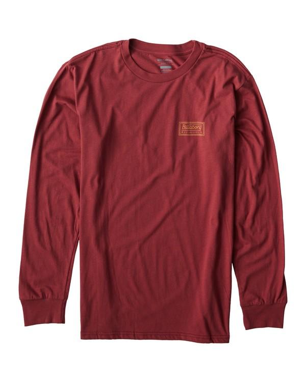 0 Windy Long Seeve T-Shirt Red M405UWIE Billabong