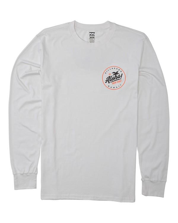 0 Aloha Badge Long Sleeve T-Shirt White M405VBAB Billabong