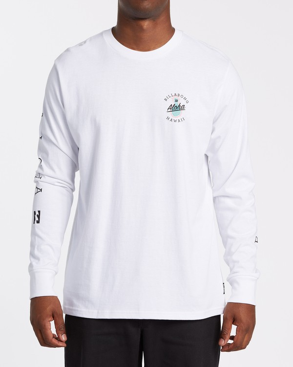 0 Aloha Hawaii Long Sleeve T-Shirt White M405VBAL Billabong