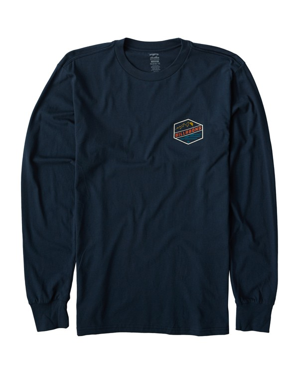 0 Ridge Long Sleeve T-Shirt Blue M405VBRI Billabong