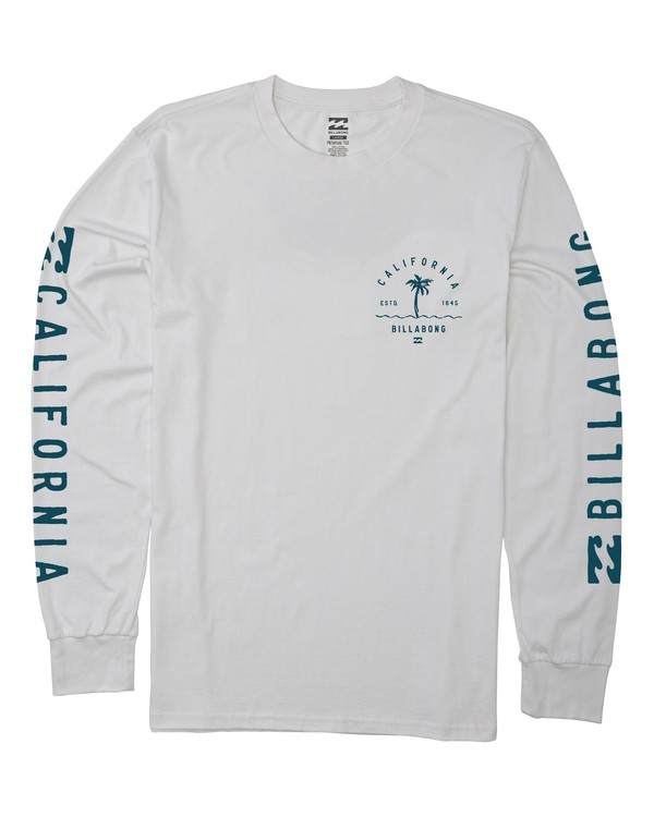 0 Vibes California Long Sleeve T-Shirt White M405VBVC Billabong
