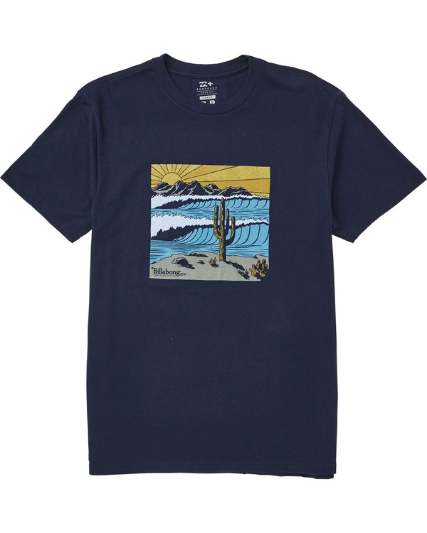 0 La Fonda T-Shirt Blue M406QBLF Billabong