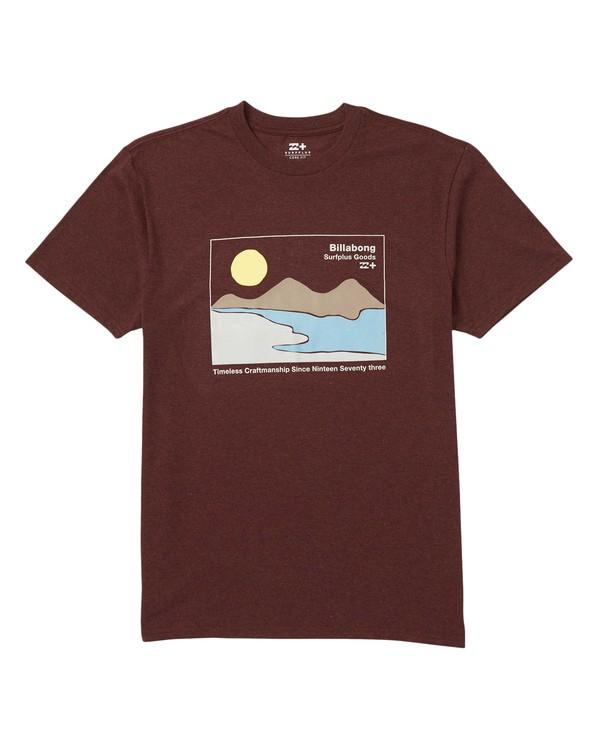 0 Abstract Eco-Friendly Graphic Tee Shirt Red M406SBAB Billabong