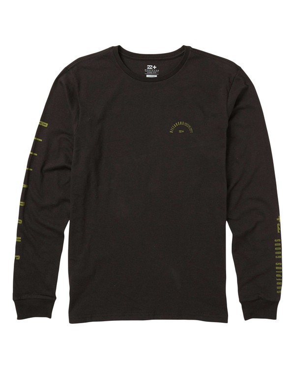 0 Franklin Eco-Friendly Long Sleeve Tee Shirt Black M408SBFR Billabong