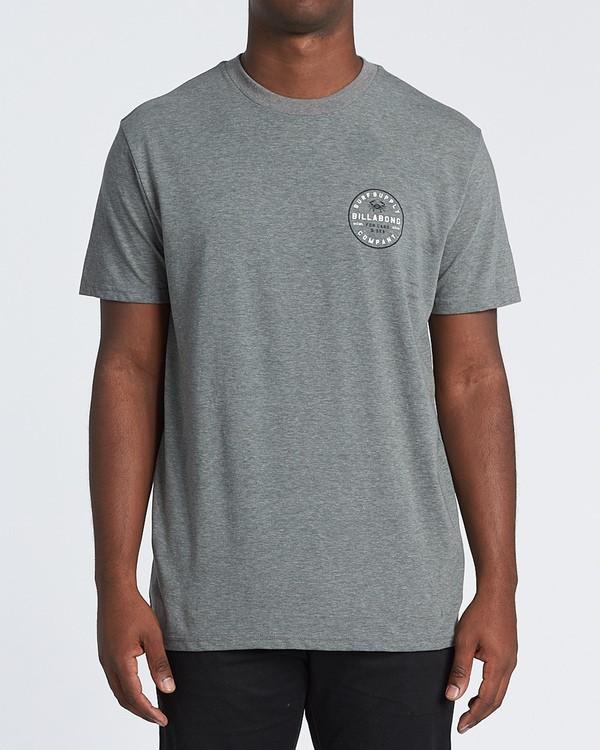 0 Claws Short Sleeve T-Shirt Grey M4141BCL Billabong