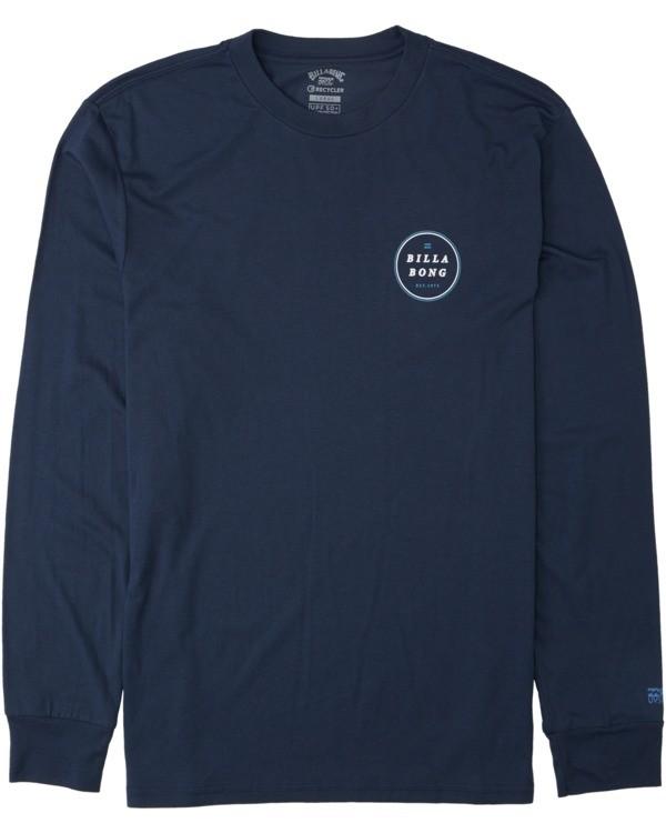 0 Rotor Long Sleeve T-Shirt Blue M4153BRO Billabong
