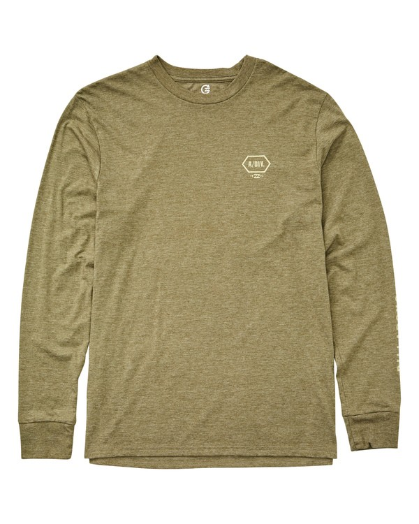 0 Foreman Performance Long Sleeve T-Shirt Green M415UBFO Billabong