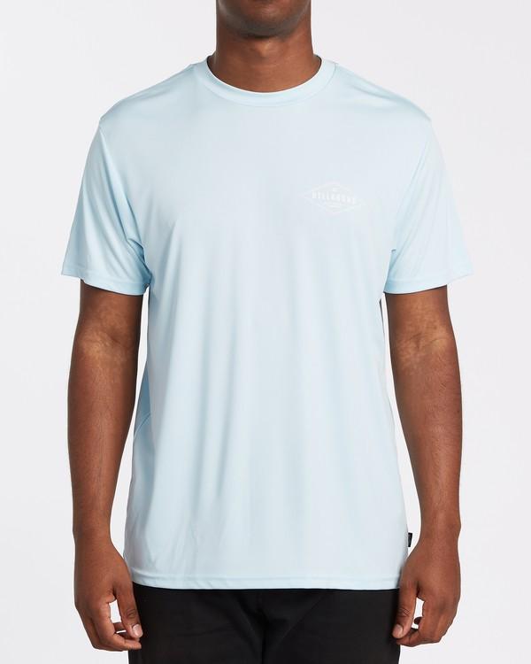 0 Surf Supply UV Short Sleeve Surf Shirt Blue M4172BSS Billabong