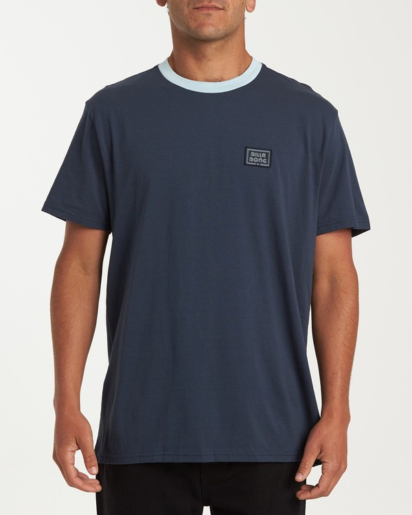 0 Station Short Sleeve T-Shirt Blue M423WBST Billabong