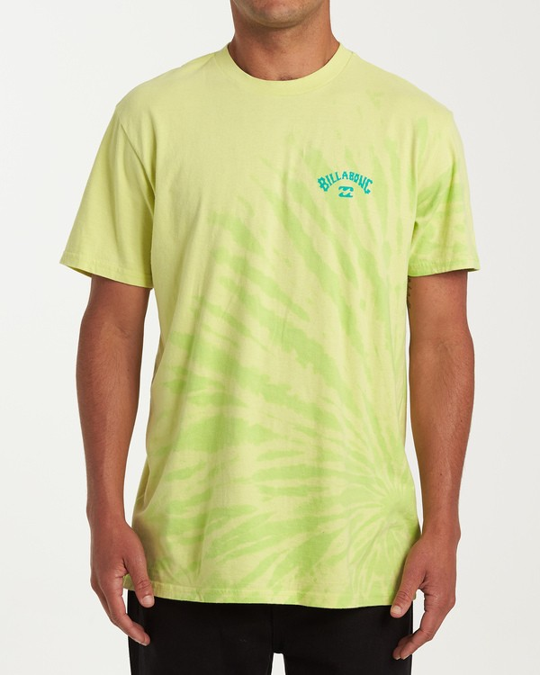 0 Arch Tie-Dye Short Sleeve T-Shirt Green M425WBAD Billabong