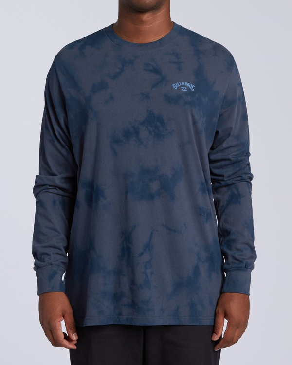 0 Arch Wave Tie Dye Long Sleeve  T-Shirt Blue M4263BAW Billabong