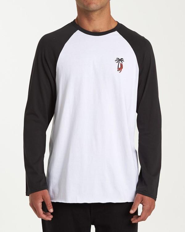 0 Tiger Palm T-Shirt White M427WBTP Billabong