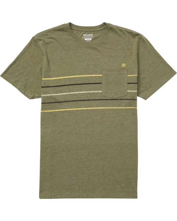 0 Stripe Tee Green M431QBST Billabong