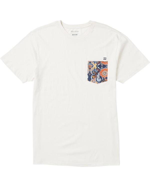 0 Team Pocket T-Shirt Brown M431SBTP Billabong