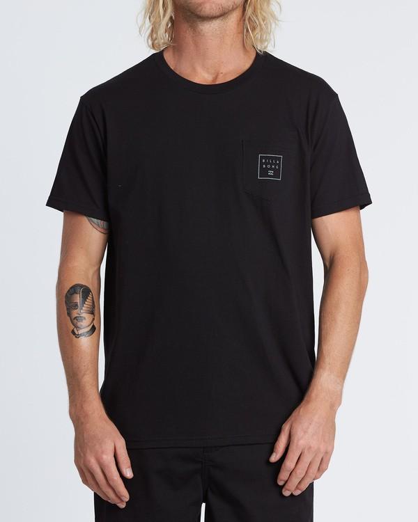 0 Stacked Essential Pocket Short Sleeve T-Shirt Black M431WBSE Billabong