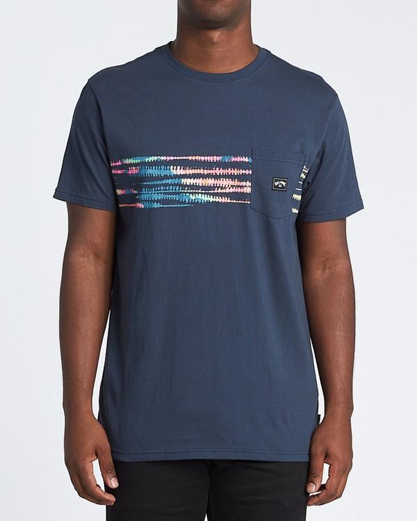0 Riot Short Sleeve T-Shirt Blue M4331BRI Billabong