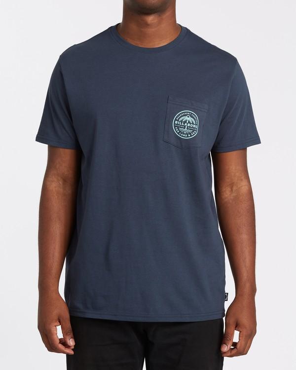 0 Coast To Coast Pocket Short Sleeve T-Shirt Blue M4332BCC Billabong