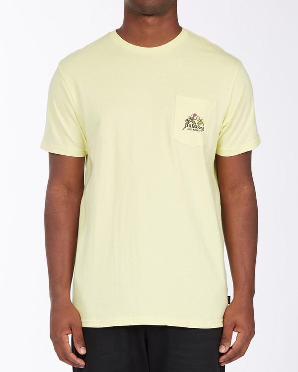 0 Calm T-Shirt Yellow M4333BCA Billabong