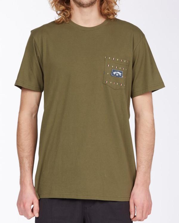0 Team Pocket Mini T-Shirt Green M4333BTM Billabong