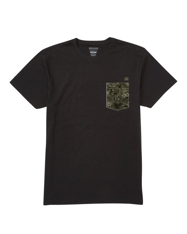 0 Team Pocket Tee Black M433TBTP Billabong