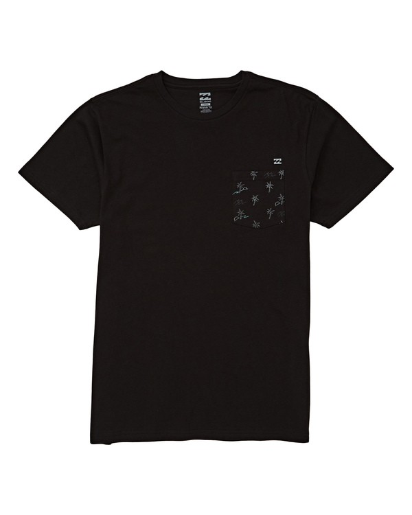 0 Team Pocket Tee Black M433UBTE Billabong