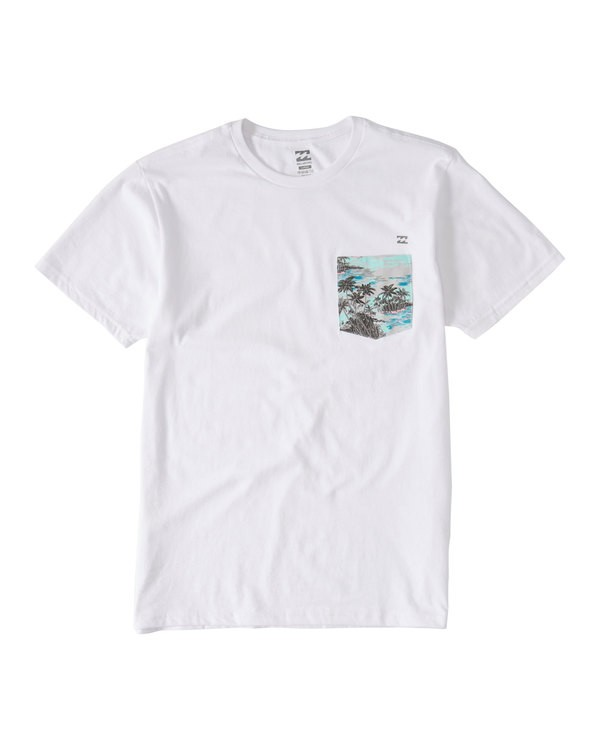0 Team Pocket T-Shirt White M433UBTE Billabong