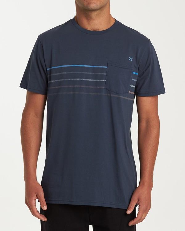0 Spinner Short Sleeve T-Shirt Blue M433WBSP Billabong