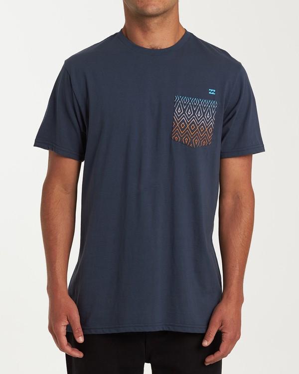 0 Team Pocket Short Sleeve T-Shirt Blue M433WBTP Billabong