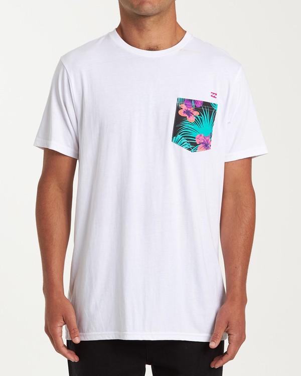 0 Team Pocket Short Sleeve T-Shirt White M433WBTP Billabong