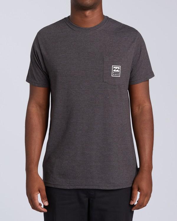 0 United Stacked T-Shirt Black M4393BDC Billabong