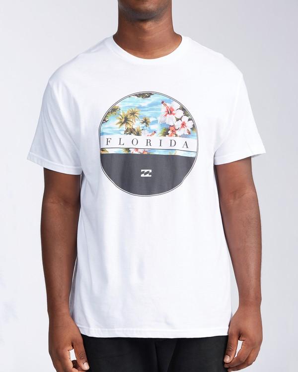 0 Florida Eclipse Short Sleeve T-Shirt White M4534EFL Billabong
