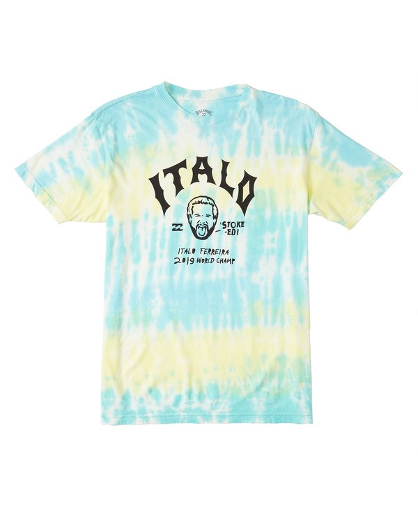 0 Italo World Title Tie Dye T-Shirt Pink M4601BTW Billabong