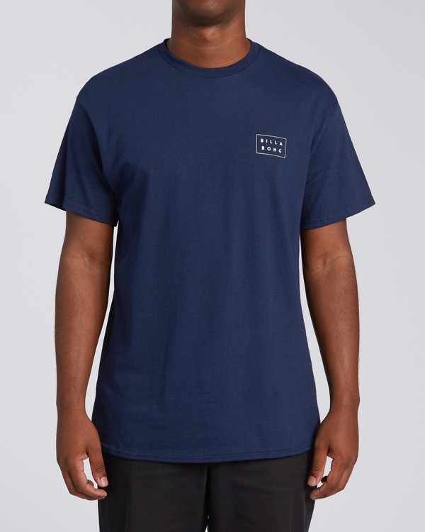 0 RT-Diecut 1 California Short Sleeve T-Shirt Blue M4602BDC Billabong