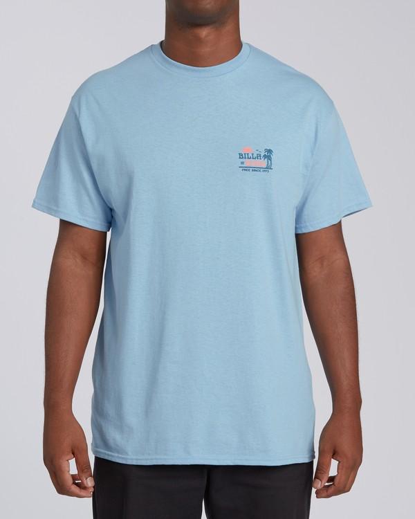 0 Lounge Florida Short Sleeve T-Shirt Blue M4602BRO Billabong